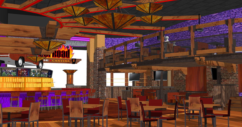 Restaurant Interior Design Bar Design Rendering Concep