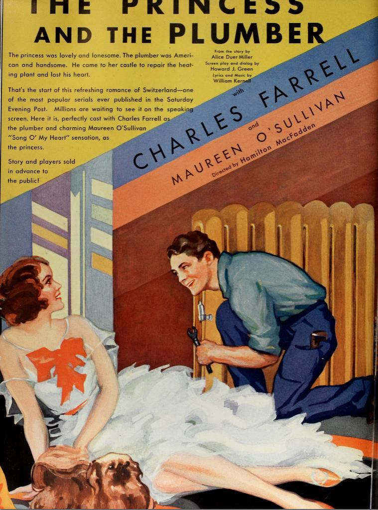 Vintage Film Advert for The Princess and the Plumber 1930 ...