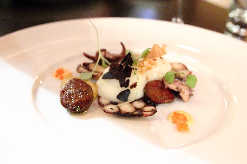 Bincho Grilled Octopus | fingerling potato, house-made chori ...