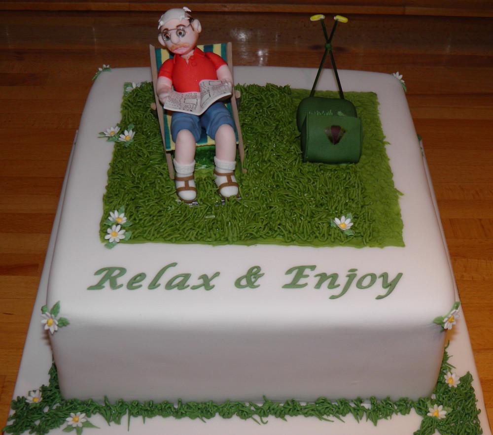 Retirement cake   Helen Vallis   Flickr