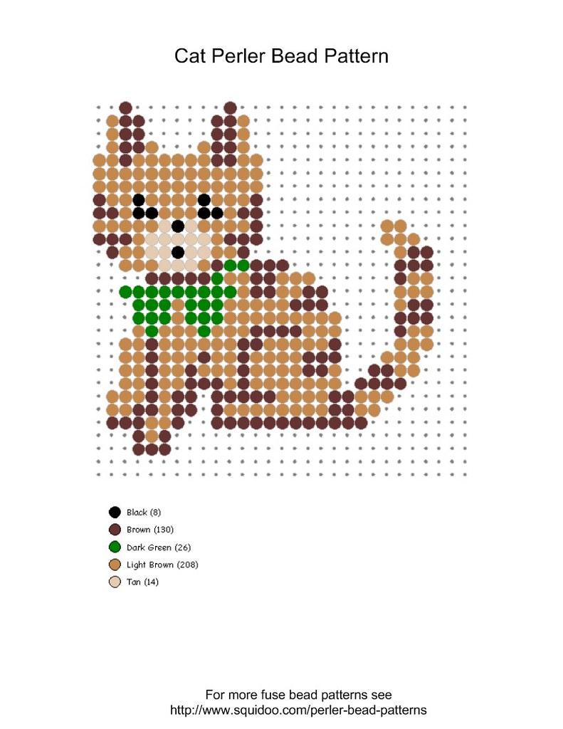 Perler Bead Cat Pattern Cute Cat Perler Bead Pattern For Flickr