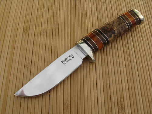 DP 1558 Spaulted Maple Burl Drop Point | by randyleeknive11