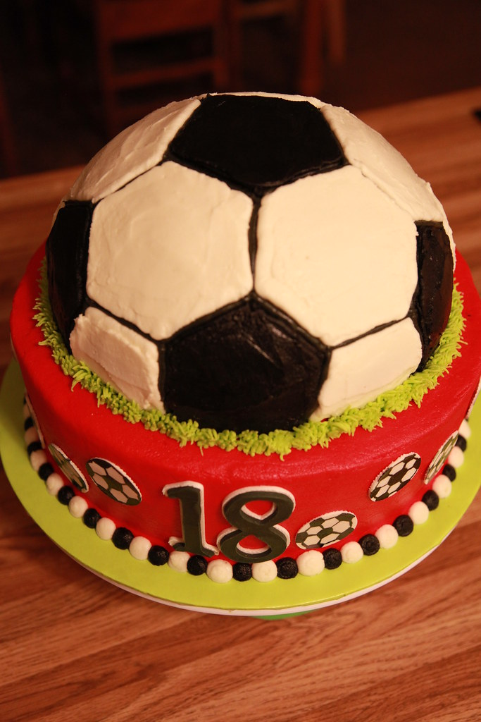 Soccer Ball Birthday Cake Birthday Cake For A 13 Year Old Flickr