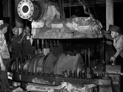 Annual boiler inspection in power plant | by The Library of Virginia