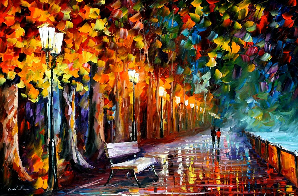 1649 36x24 way to home oil painting by leonid afremov for Paintings for home