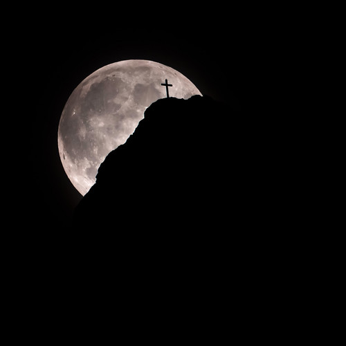 13th August - The moon meets the cross | by Jacopo.Colombo