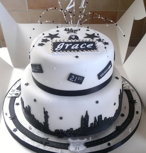 new york theme 21st birthday cake flickr photo sharing. Black Bedroom Furniture Sets. Home Design Ideas