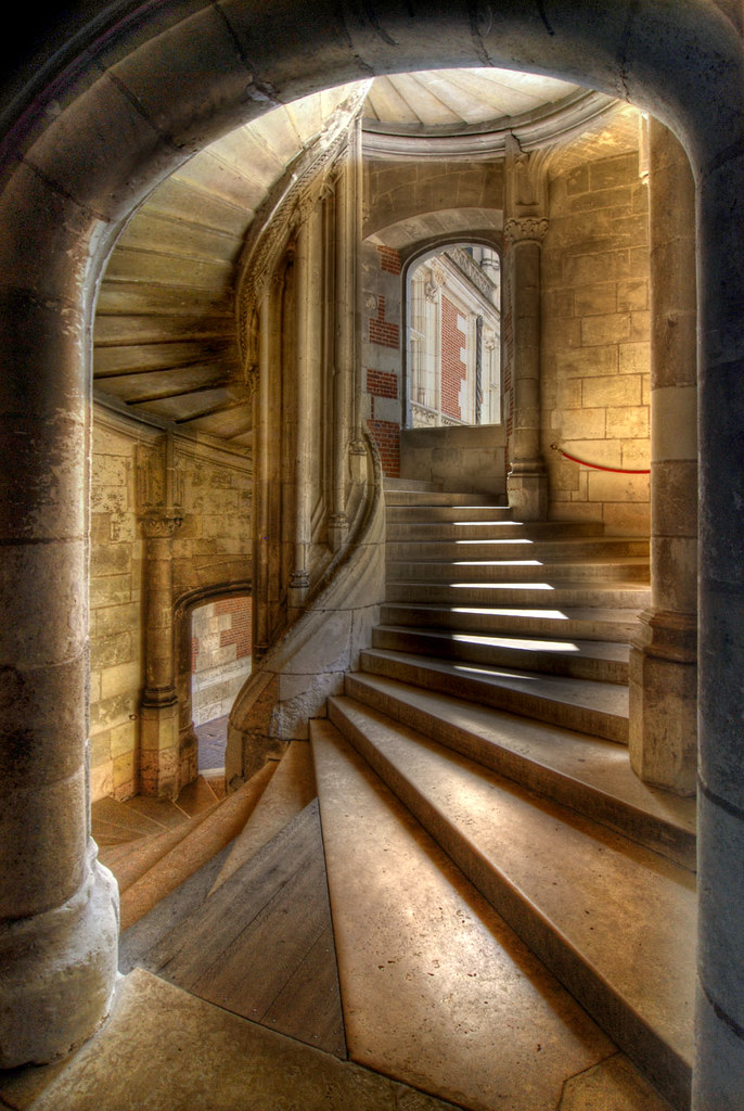 Staircase Light Found In The Chateau At Blois In The