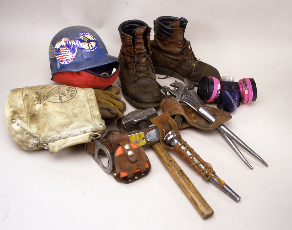 Ironworker S Tools This Tool Belt With Tools Hard Hat