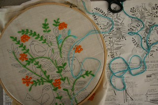 New vintage embroidery project | by twinfibers
