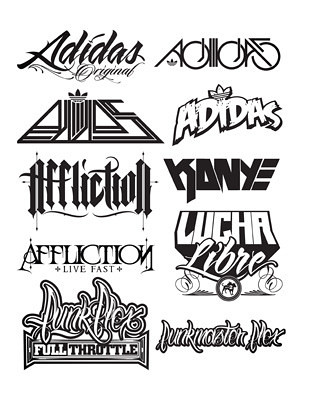 typography adidas afflicion full hydro74 illustrative kany flickr
