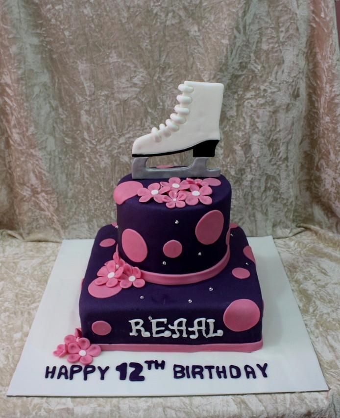 Ice Skating Birthday Cake
