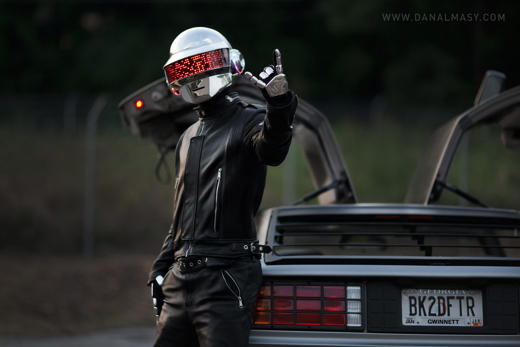 Delorean For Sale >> Daft Punk DeLorean Shoot | Helmet Created By: volpinprops.ne… | Flickr