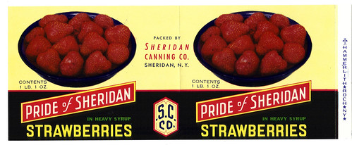 Sheridan Strawberries Label | by clotho98