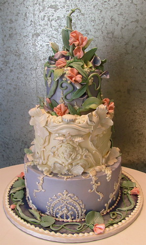Wedding Cake Art And Design Center : String Bean and Sweet Pea A romantic Art Nouveau design ...