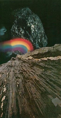Rainbow At The Center Of The Earth | by collageartbyjesse
