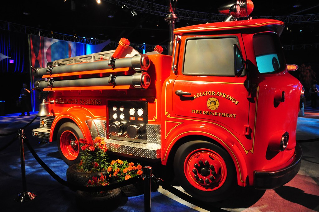 cars land red fire truck inside the magic flickr. Black Bedroom Furniture Sets. Home Design Ideas