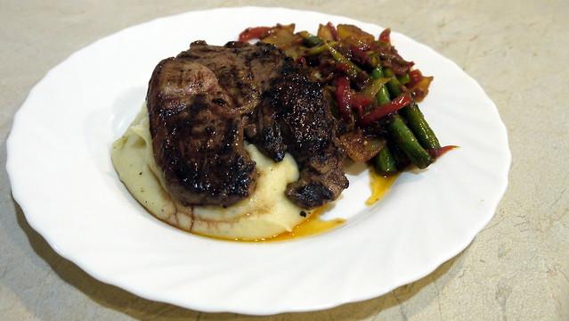 ... and Twenty Seven - Lamb Steak, Mustard Mash and Stir Fried Vegetables
