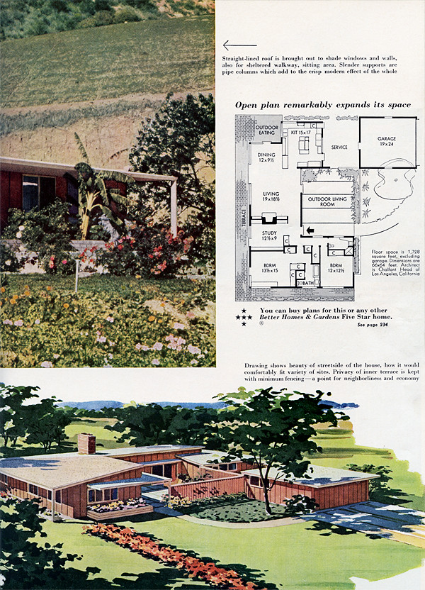 Better homes gardens march 1953 home plans for Better homes gardens house plans