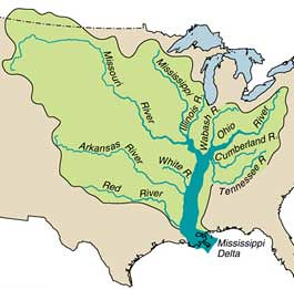 Mississippi River Tributaries Ohio R Tenn R Missouri R Flickr - Mississippi missouri river world map
