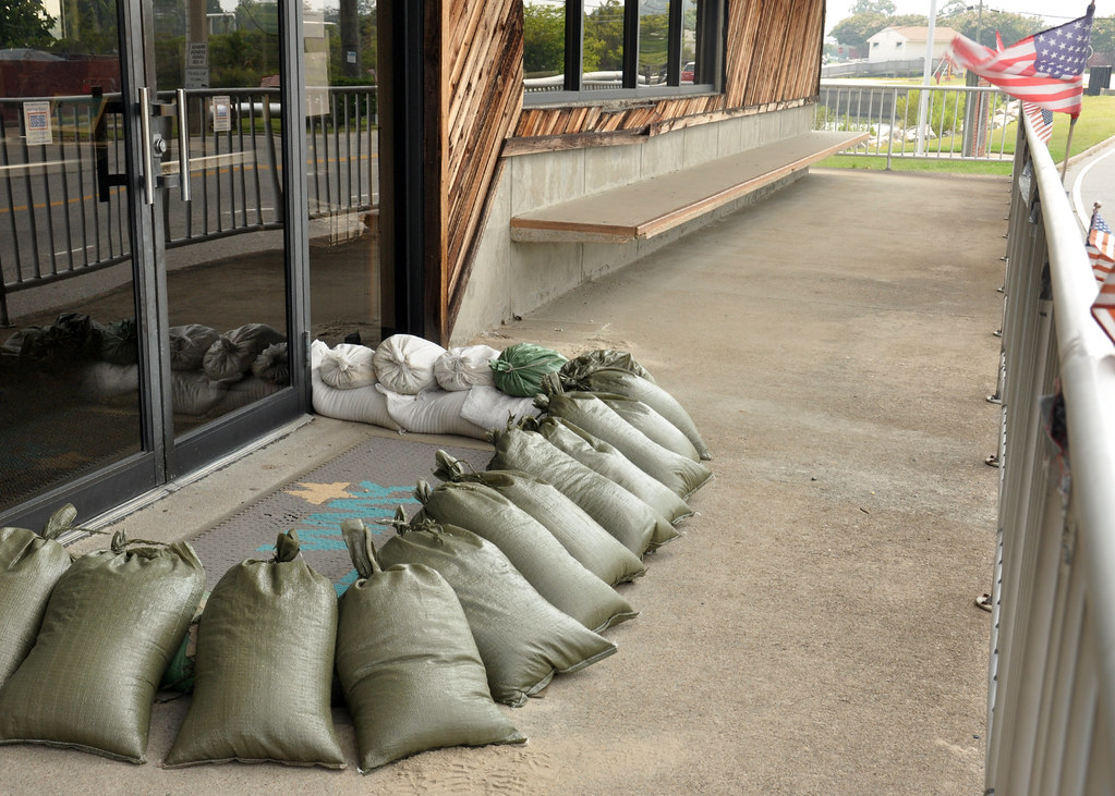 Sailors Place Sandbags For Hurricane Irene Little Creek