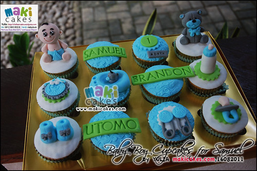 Baby Boy Cupcakes for Samuel Brandon | by *Yulia*