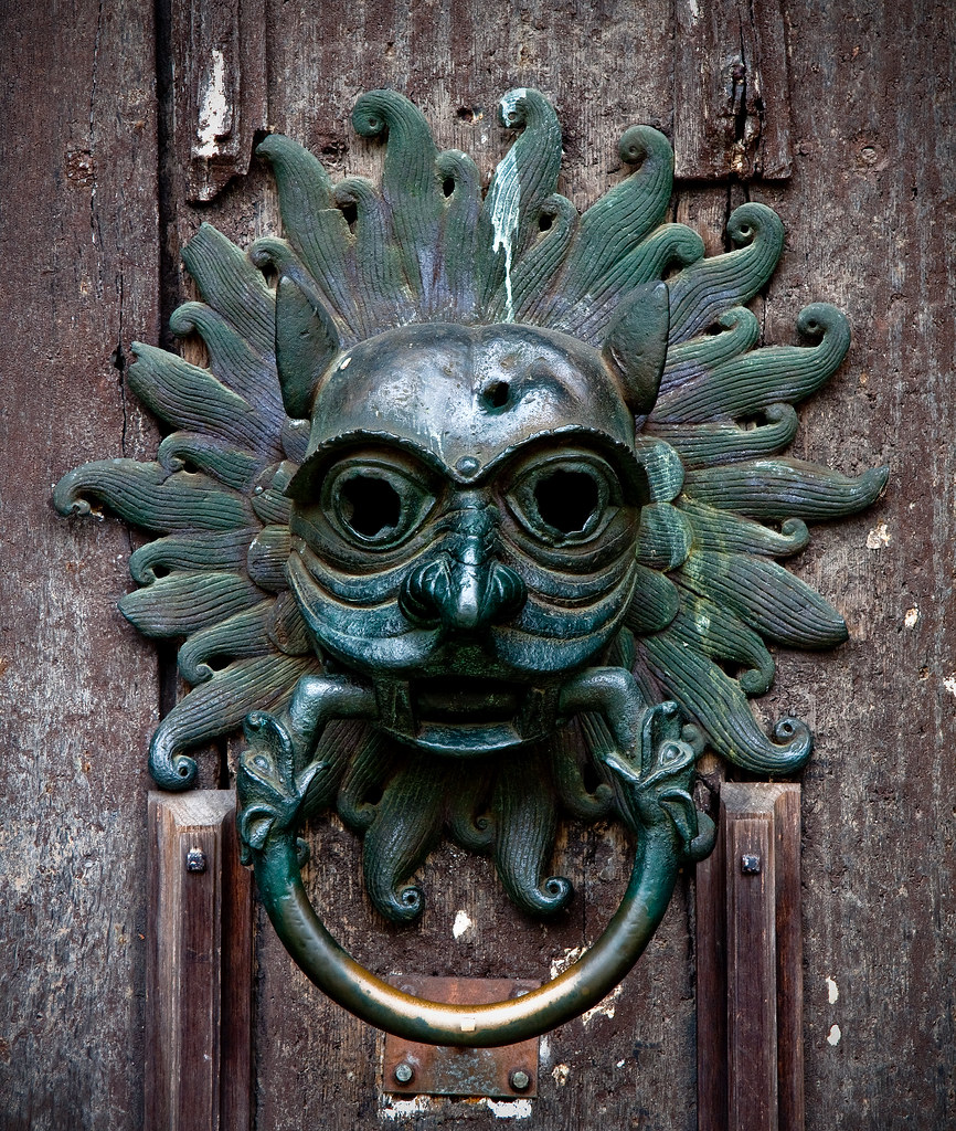 Durham Cathedral Door Knocker Durham County Durham Uk
