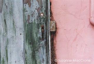 Green Doon, Pink Wall ~ Original Colour Photograph | by Suzanne MacCrone Rogers ~ Italian Girl in Georgia