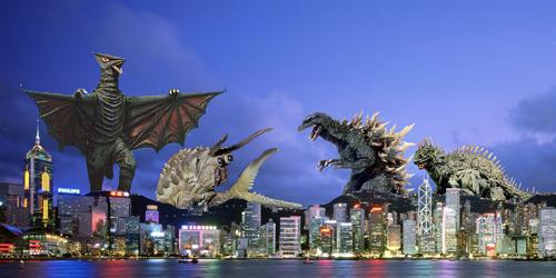 Godzilla And Varan Vs Gyaos And Ganimes Mz 65 Flickr