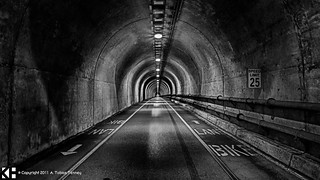 Marin Headlands Tunnel [BW] | by T bias