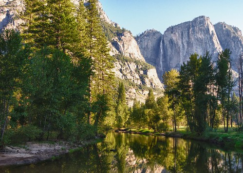 Morning on the Merced River and Yosemite Falls | by John Baggaley