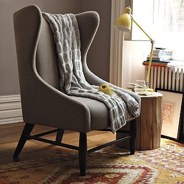 ... West Elm Modern Wingback Chair | By The Estate Of Things