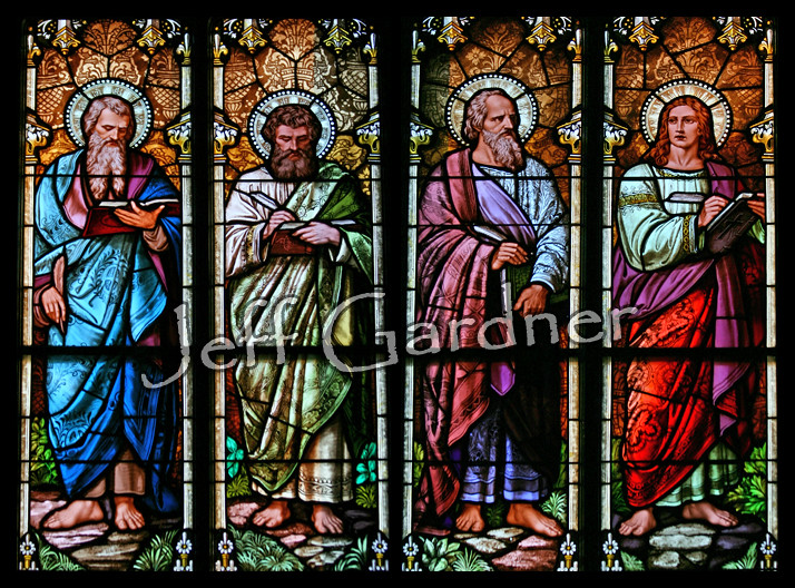 The Four Gospel Writers   Window in Our Lady of Mount Carmel…   Flickr