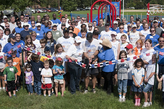 Secretary of Defense joins hundreds of volunteers to build a playground in one day as part of 9/11 Day of Service and Remembrance | by Fort Meade