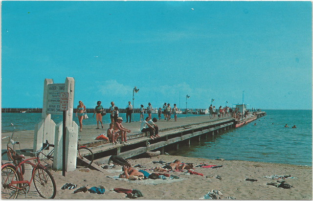 Ne east tawas mi village harbor view of beach babes at the for Harrison fishing pier