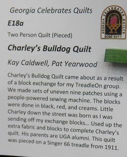 """Charley's Bulldog Quilt"" by Kay Caldwell & Pat Yearwood - Info 