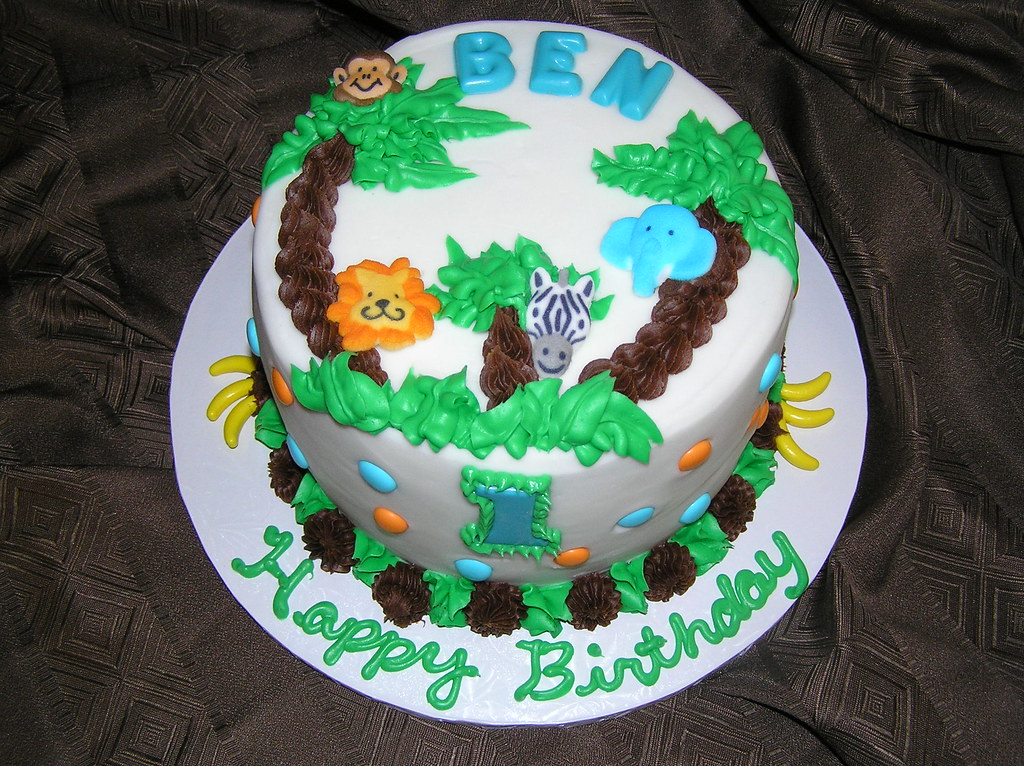 Birthday Cakes Jungle Theme ~ Jungle theme first birthday smash cake first birthday smasu flickr