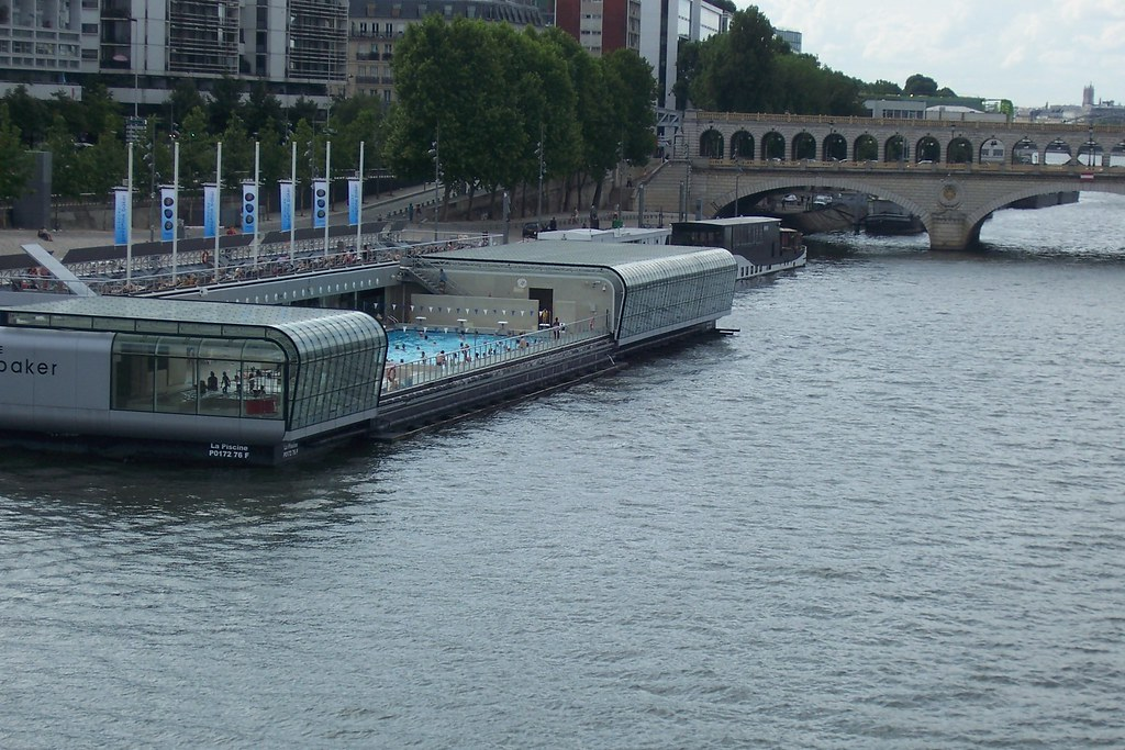 Josephine Baker Swimming Pool Paris A Pool On The Seine Flickr