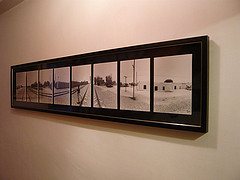 Framed Panoramic 8 floated pictures | by bespokeframing