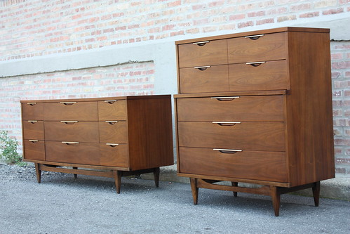 "Mint Kent Coffey ""The Tableau"" Mid Century Modern Bedroom Set 