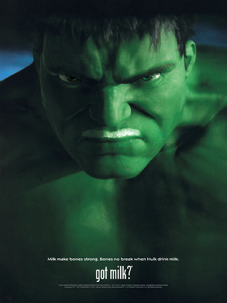 got milk hulk 2003 see 7 got milk ads featuring