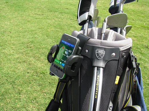 Universal GPS Golf Bag Mount | by Bracketron