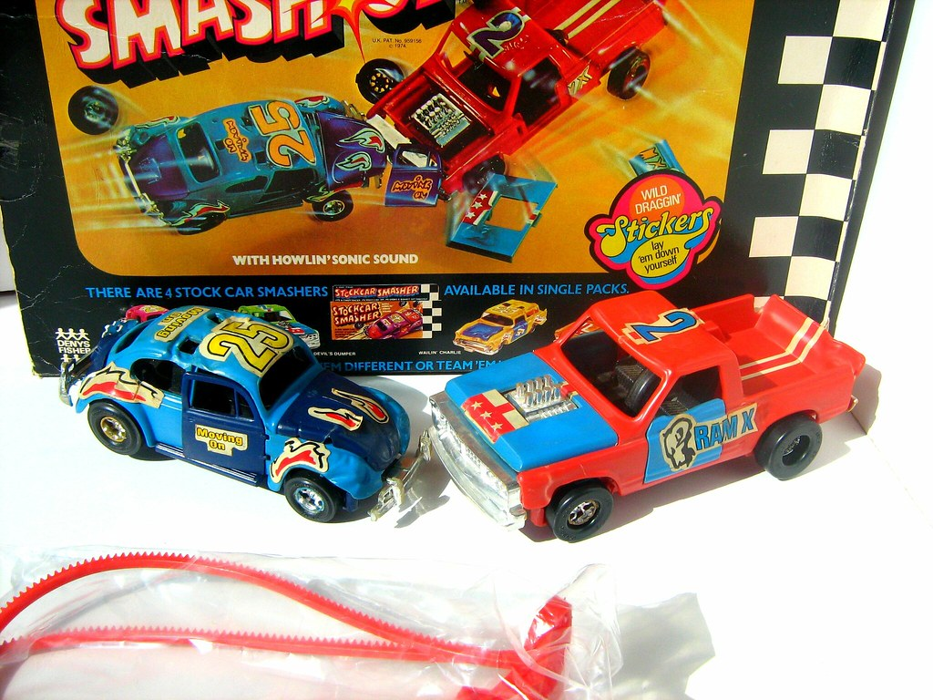 Toy Cars Crash Into Each Other