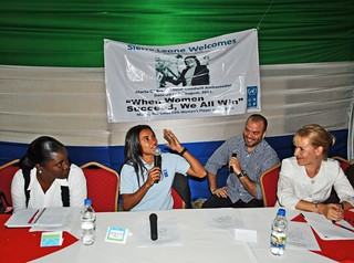 Marta at a UNDP women's forum | by United Nations Development Programme