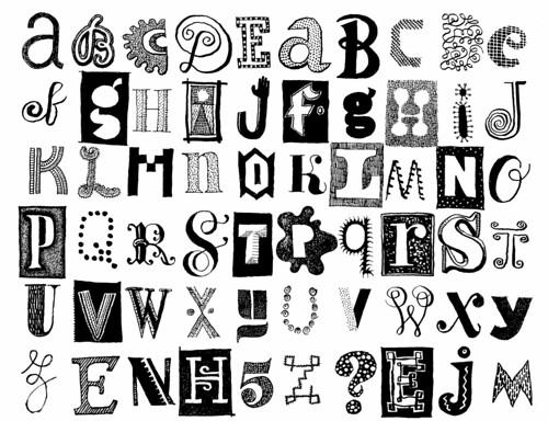 Strange Alphabet Letters