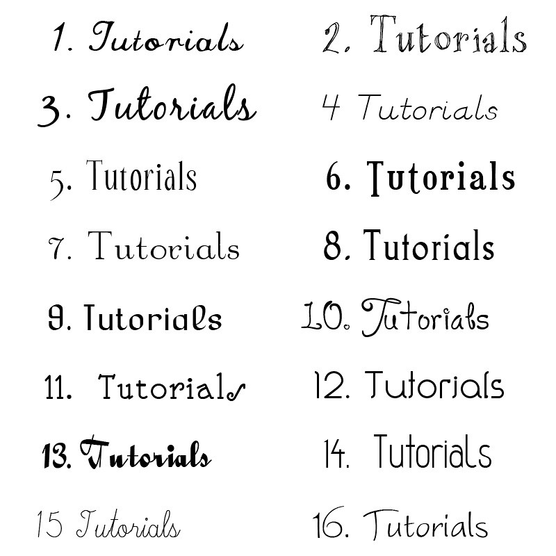 Font Sampler I Want To Re Brand My Blog Which Font Do