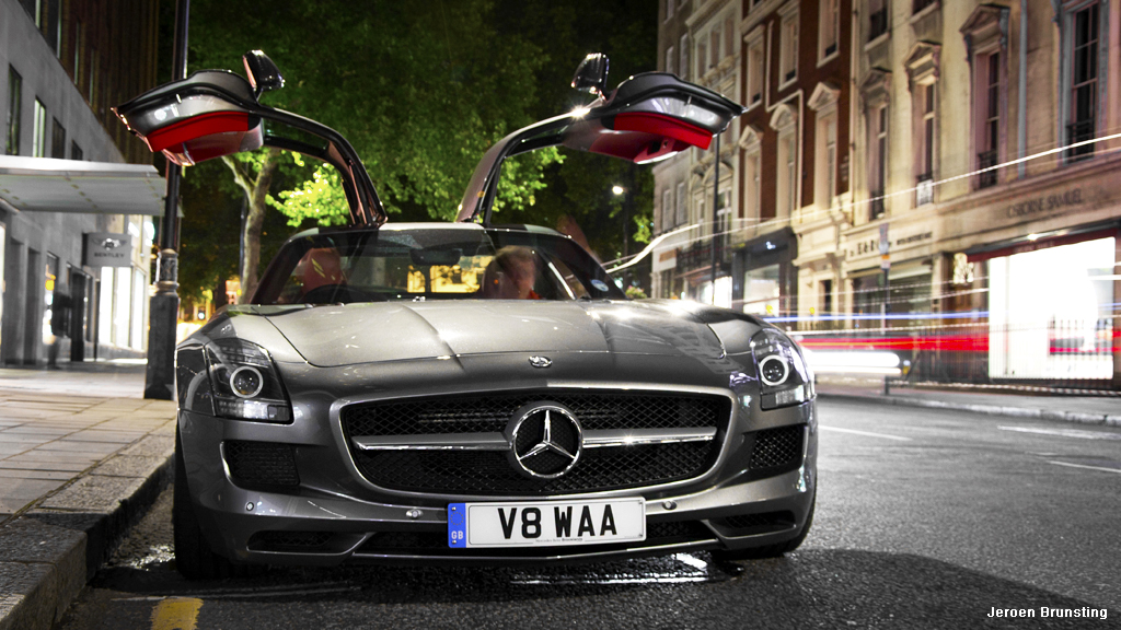 by Jeroen Brunsting Photography Winged doors at night Mercedes Benz SLS. | by Jeroen Brunsting Photography & Winged doors at night: Mercedes Benz SLS. | Nice SLS AMG wit\u2026 | Flickr