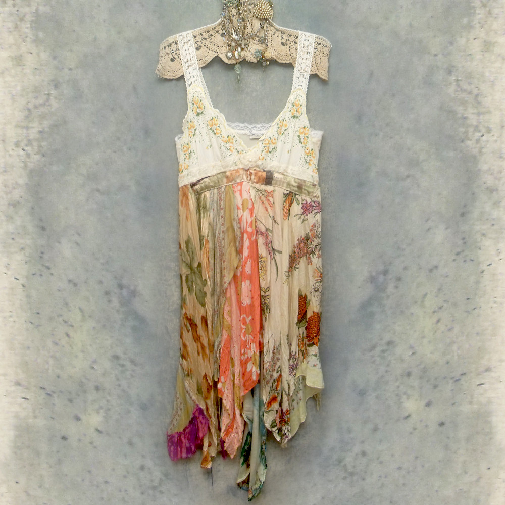 Vintage Slip Dress Reconstructed One of a Kind Boho Style … | Flickr