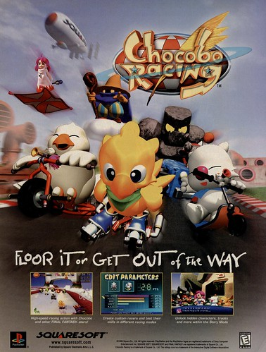 Chocobo Racing - Playstation Ad | by Tanooki's Stuff