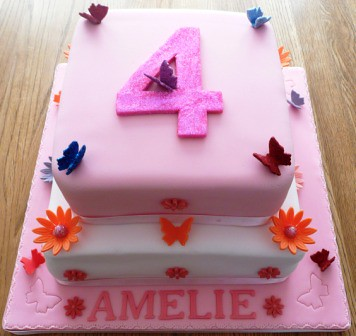 4th Birthday Cake For A Girl Image Inspiration of Cake and